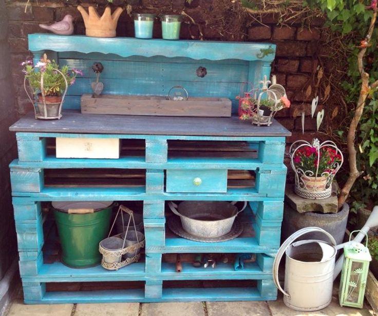 pflanztisch aus paletten for the home inspiration au en pintere. Black Bedroom Furniture Sets. Home Design Ideas