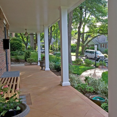 Stain the concrete front porch for the home pinterest for Stained front porch
