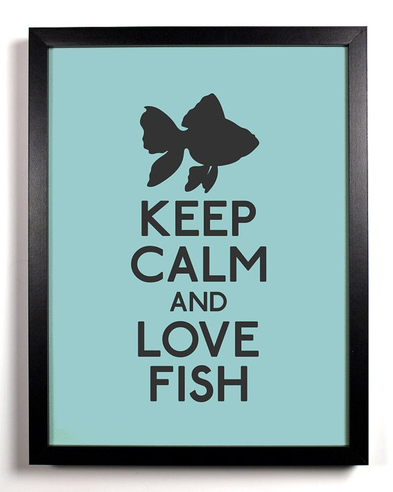 Keep calm and love fish keep calm pinterest for I love the fishes
