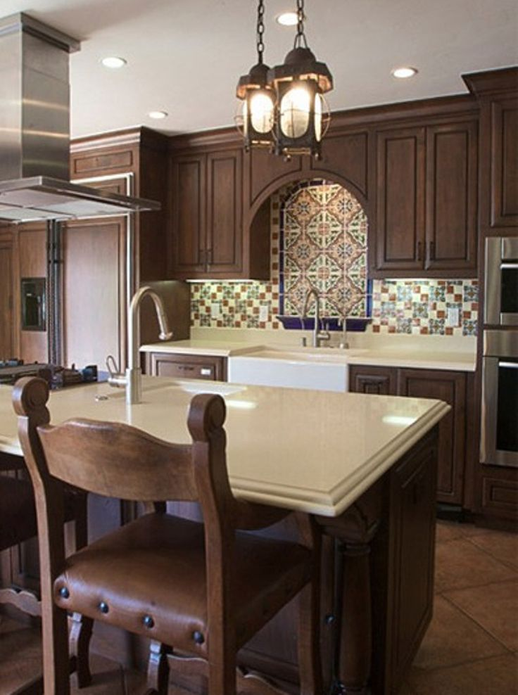 Spanish style kitchen house pinterest for Kitchen units spain