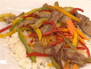 Mark Bittman makes delicious beef stir-fry with basil and chiles.