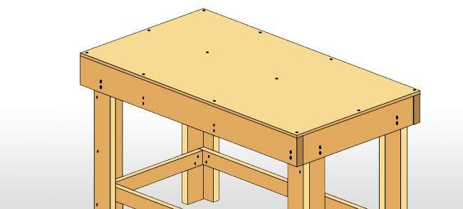 Build A Work Bench Woodworking Workshop Pinterest