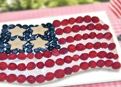 Harveys American Flag Fruit Pizza...This classy centerpiece will have ...