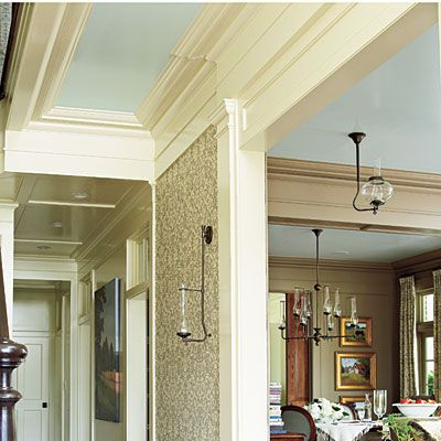 """Uniform Ceiling Color - """"Window Pane"""" in high gloss by Sherwin Williams"""
