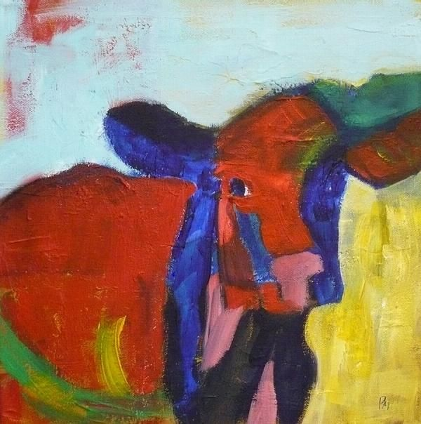 Abstract Cow Painting ...