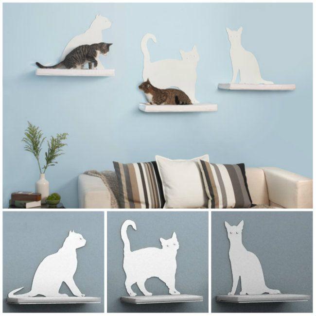 Estantes para gatos rascadores gatos pinterest - Estantes para pared ...
