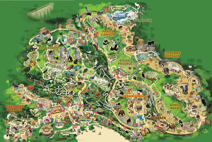 Official San Diego ZOO map