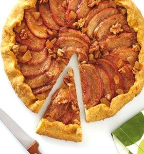 Apple Walnut Ginger Galette | food | Pinterest