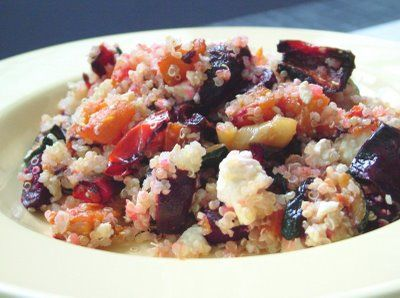 Roasted Veg with Quinoa and Feta | Recipes | Pinterest