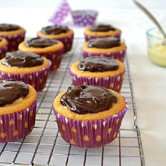 Boston Cream Pie Cupcakes --- Classic Boston cream pie in mini cupcake ...