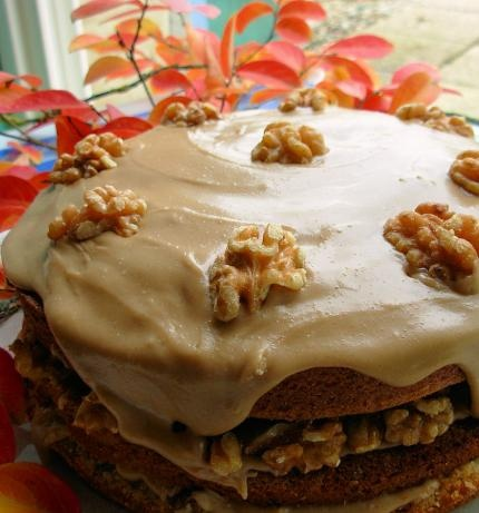 Maple Syrup & Walnut Layer Cake with Fudge Frosting | Recipe