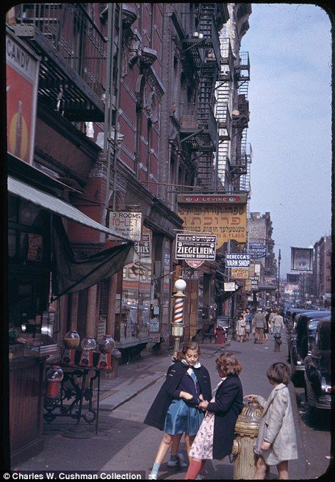 My Old Hood: Lower East Side NY 1941-42 by Charles Weever Cushman. colour kodachrome collection