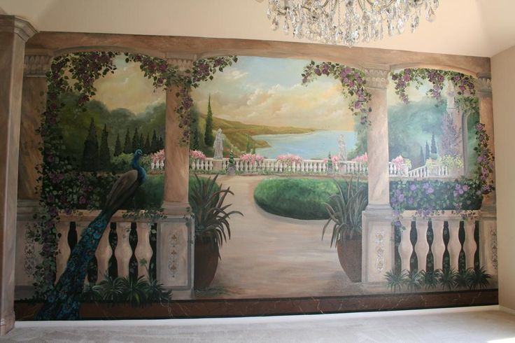 Tuscany trompe l 39 oeil and faux finishing pinterest for Artistic mural works
