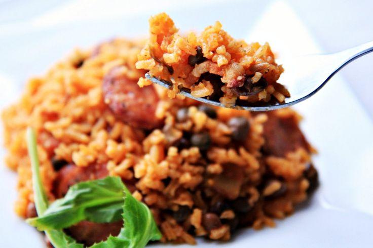 Arroz con Gandules (Rice and Pigeon Peas) - The Noshery