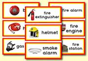 Fire Station Role Play Resources - Fire station themed flashcards