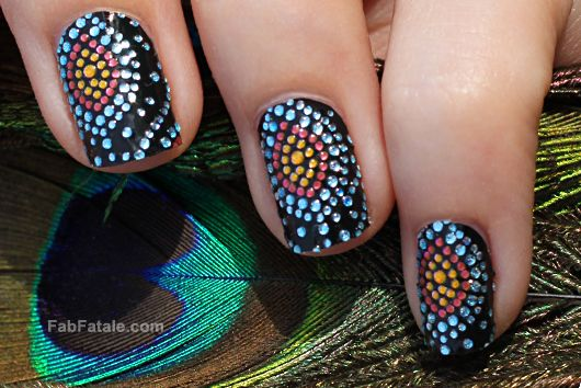 Peacock Nails <3