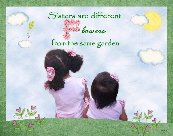 Sisters Are Different Flowers From The Same Garden Quote Hot Girls Wallpaper