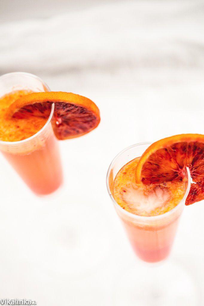 Blood Orange Sparkler (French 75) | Recipe