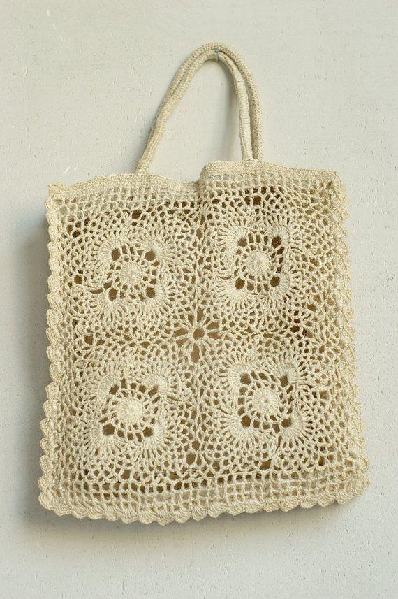 Vintage Crochet Bag : VINTAGE CROCHET BAG by reservoires on Etsy
