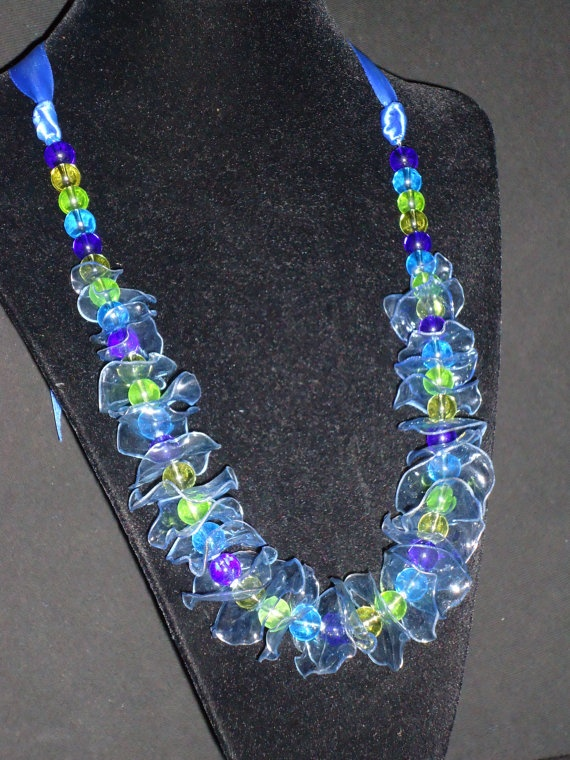 Recycled plastic bottles jewelry pinterest for Jewelry made from plastic bottles