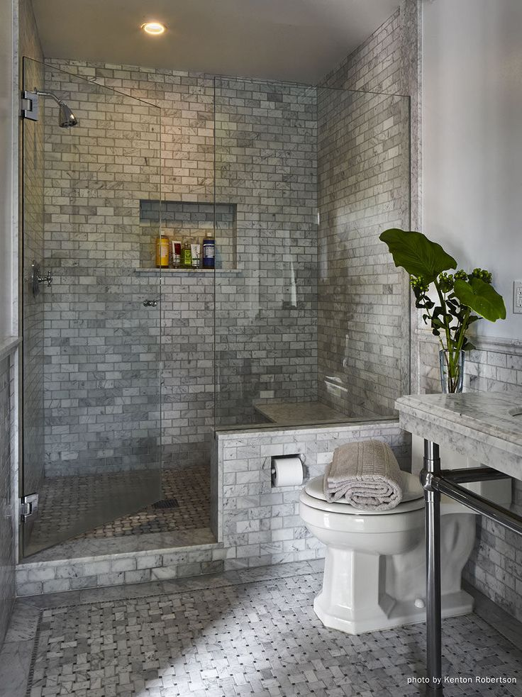Master bath in grey marble tile my residential projects for Master bathroom grey tile
