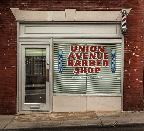 Barber Shop from Knoxville, TN, downtown. Always wanted to go in for ...