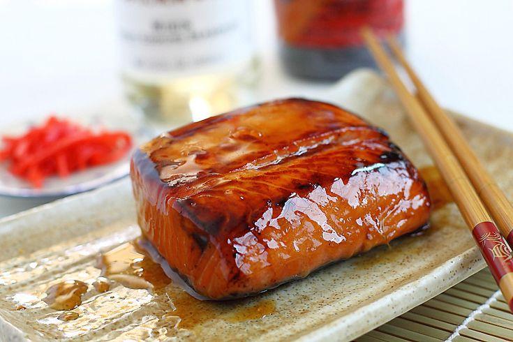Salmon Teriyaki - tender and moist salmon glazed with savory and sweet ...