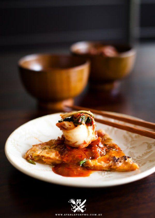 Kimchi Pajeon (Kimchi Pancakes, 김치 파전) | Appetisers & Side ...