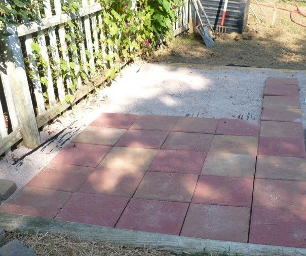 laying pavers easy patio expansion flowers and