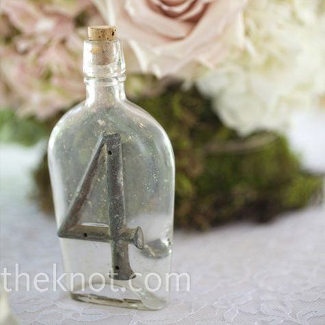 Metal and Glass Table Numbers