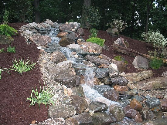 Backyard Hill Waterfall : waterfall down a hill  terrariums and water features  Pinterest