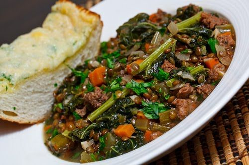 Lentil Stew with Italian Sausage and Kale | Recipe