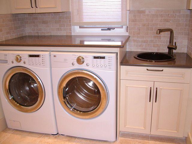 Plus Backsplash Laundry Room Pinterest