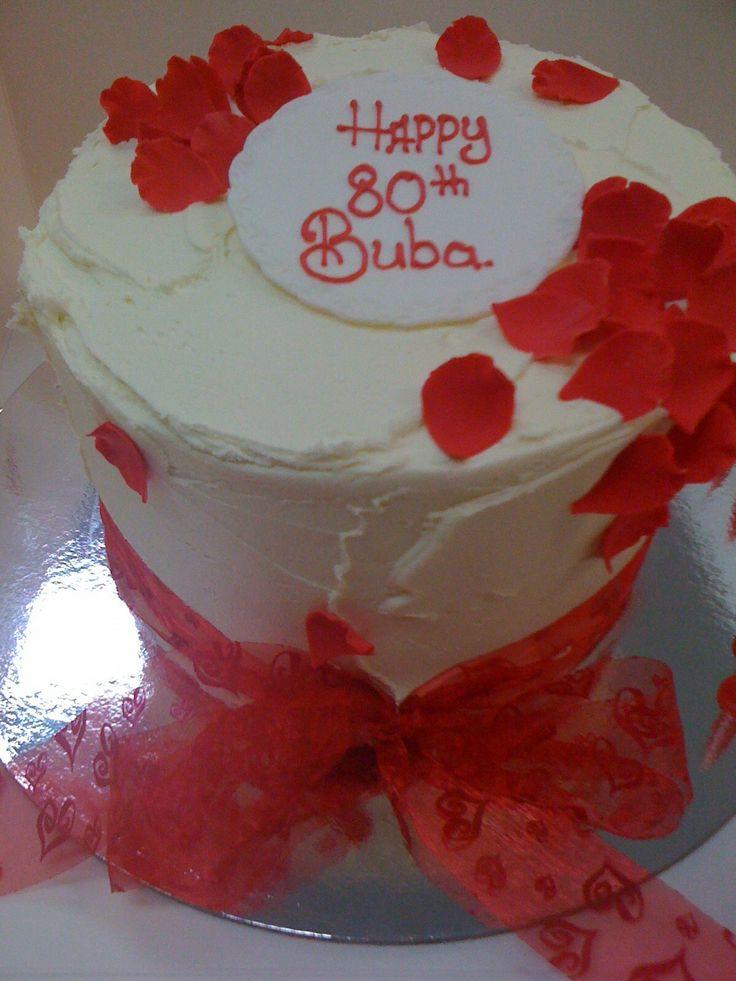 Cake With Roses Pinterest : Red rose petal cake Birthday cakes Pinterest
