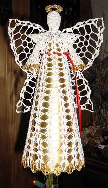Crochet thread angel tree topper Christmas and Easter ...
