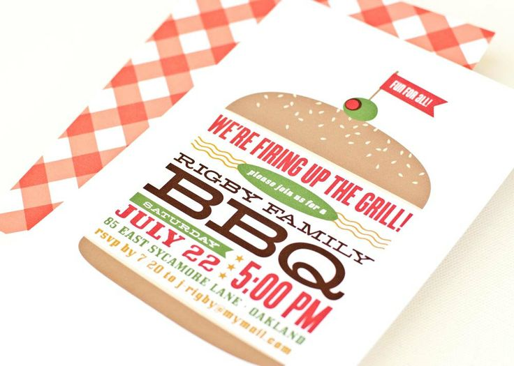 4th Of July BBQ Invitation