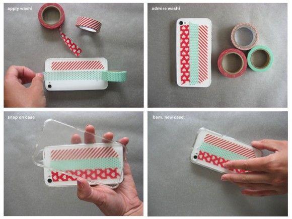 DIY customized phone case : MakeThis : Pinterest