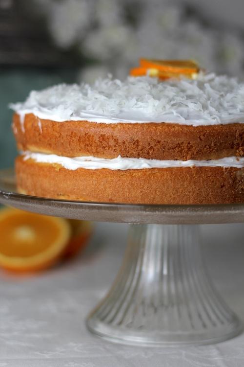 orange layer cake | Citrus Round Layer Cakes | Pinterest