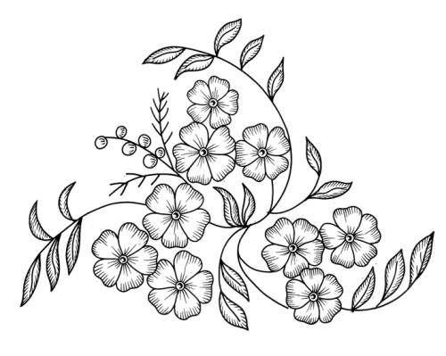 Рисунки вышивок гладью цветов 499