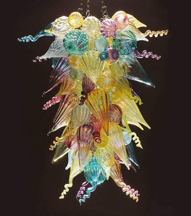 Chandelier Blown Glass Pinterest