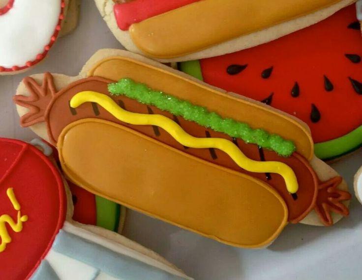 Hot Dog Cookie | Fun & Food Cookies | Pinterest