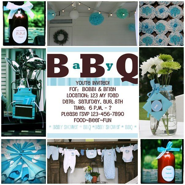 baby shower bbq party fun pinterest