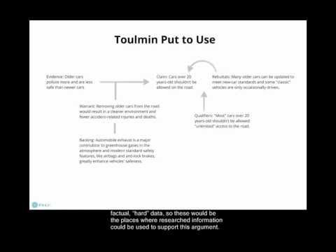 Ask the Experts: Toulmin paper