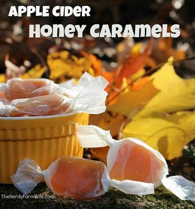 Apple Cider Honey Caramels   I love caramel and apples....   Pinterest