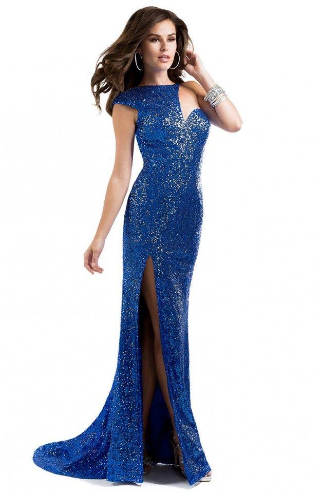 Blue Sequin Dress Maggie Sottero