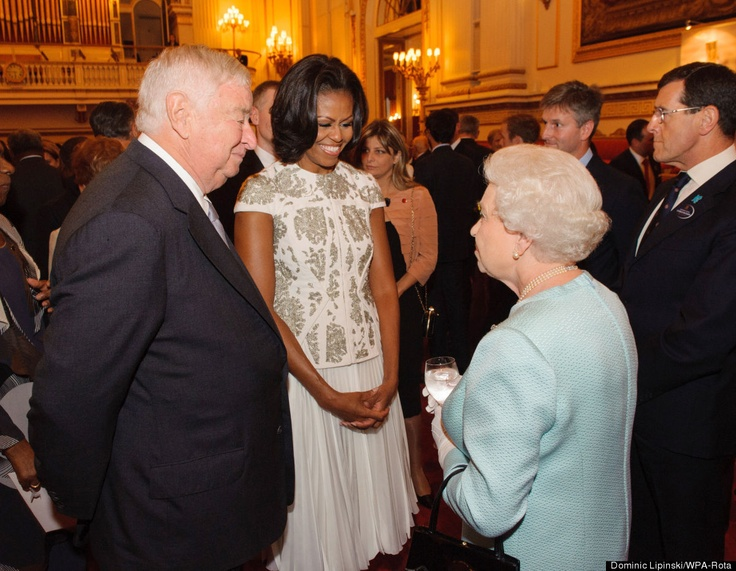 Our beautiful first lady, Michelle Obama with Queen Elizabeth - London Olympic Games - Royal Welcoming Ceremony