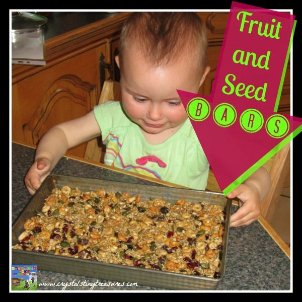 Fruit and Seed Bars are great for when you and the kids are on-the-go!