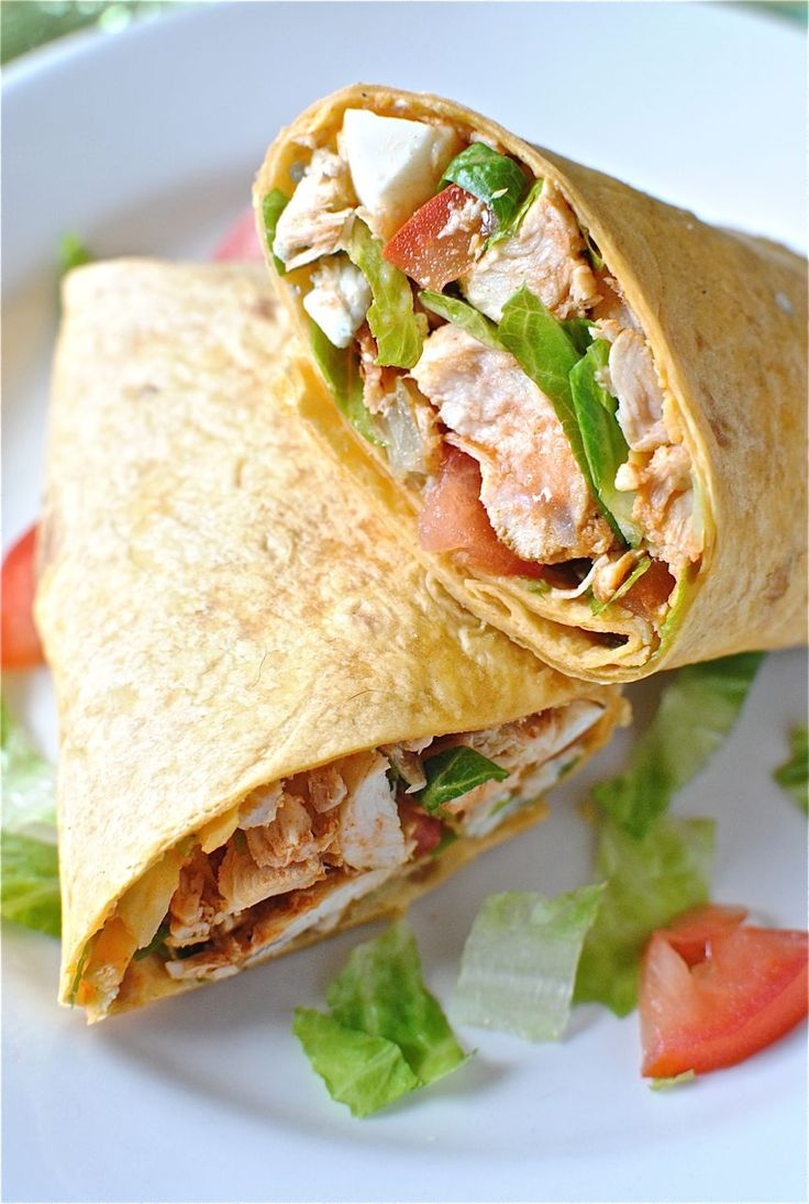 Buffalo Chicken Wraps, YUM I cooked mine in the slow cooker with Frank ...
