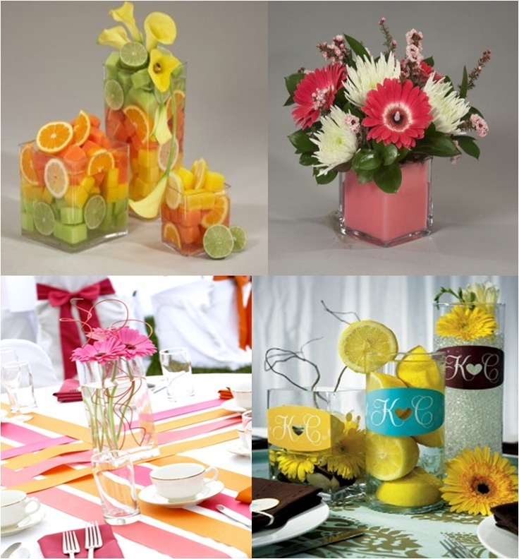 Summer centerpieces love is patient pinterest for Diy wedding ideas for summer