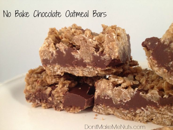 Dessert Love: No Bake Chocolate Oatmeal Bars! - Dont Make Me Nuts